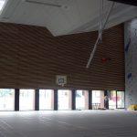 Bardage intérieur bois gymnase