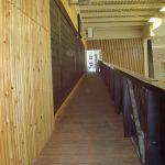 Bardage intérieur salle de sport