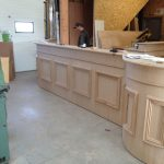 Fabrication bois hall accueil